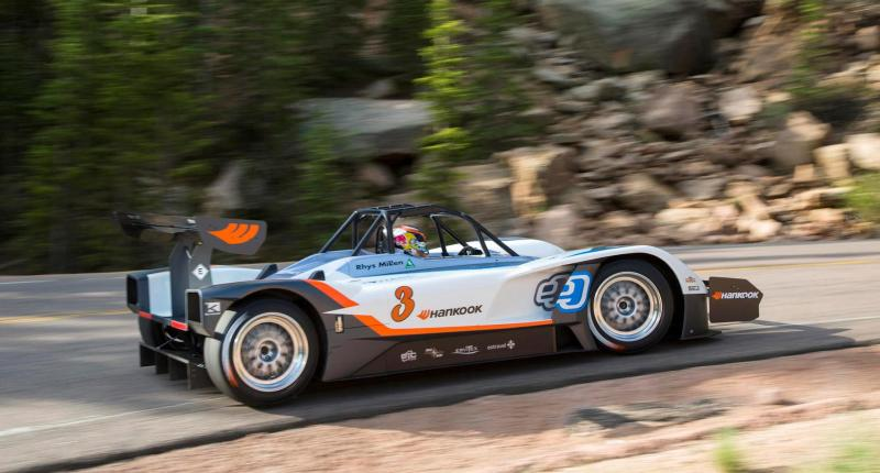 Cover for 1386 horsepower electric car poised for Pikes Peak victory