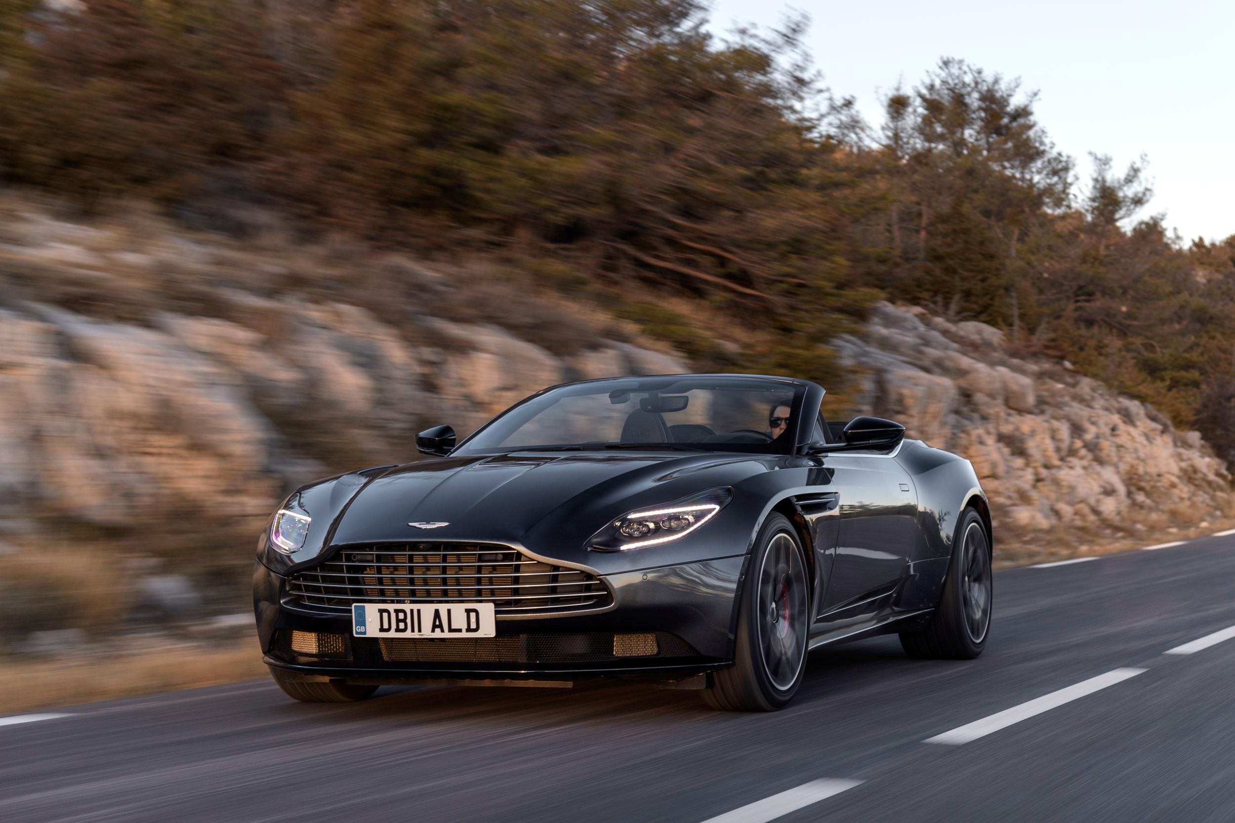 Aston Martin Db11 Volante V8 Specs Performance Data Fastestlaps Com