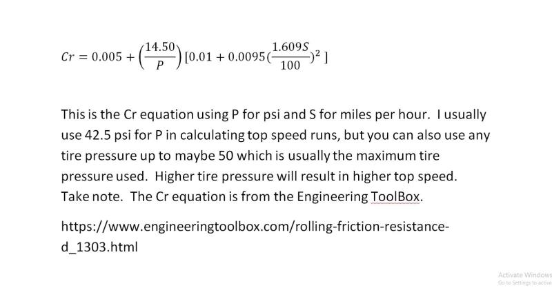 Cover for Cr Or Coefficient Of Rolling Equation