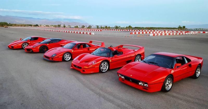 Cover for Ferrari F40 vs Ferrari F50 vs Ferrari 288 GTO vs Ferrari Enzo vs LaFerrari