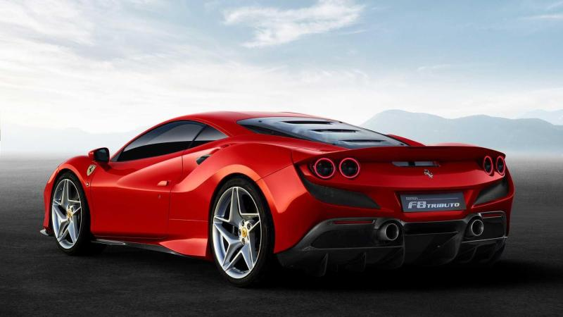 Cover for Ferrari F8 Tributo - more taillights and more horsepower