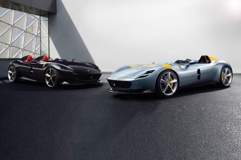 Cover for Ferrari Monza SP1/SP2 open-top supercars revealed