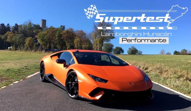 Cover for Huracán Performante sets 7:08 Nürburgring lap time with Sport Auto Germany