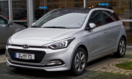 Image of Hyundai i20 blue 1.0 T-GDI