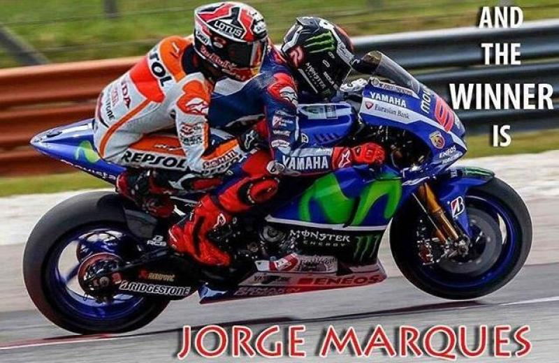 Cover for Jorge Lorenzo and Marc Marquez steal the 2015 MotoGP championship title