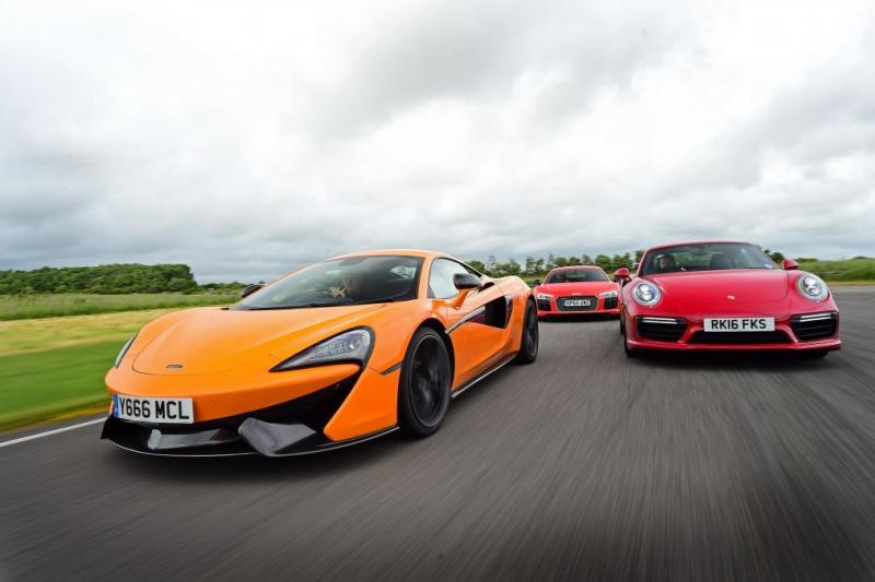 Cover for McLaren 570S beats Porsche 911 Turbo S and Audi R8 Plus, sets new lap record at Llandow