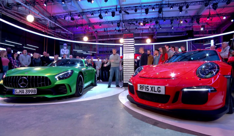 Cover For Mercedes Amg Gt R Beats Porsche Gt3 Rs On Top Gear
