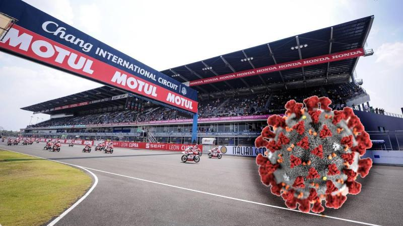 Cover for MotoGP races cancelled due to Wuhan corona-virus