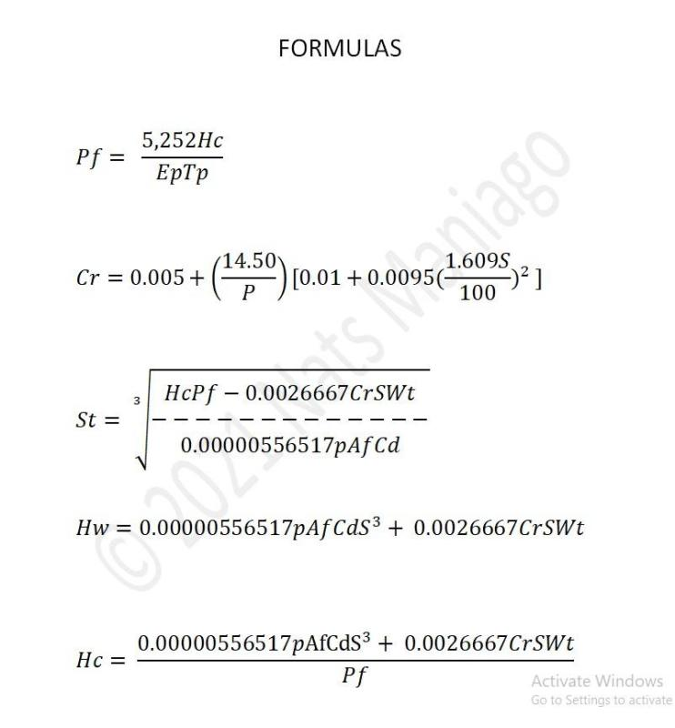 Cover for My Own Formulas That I Use In Determining The Theoretical, Drag-limited Top Speed