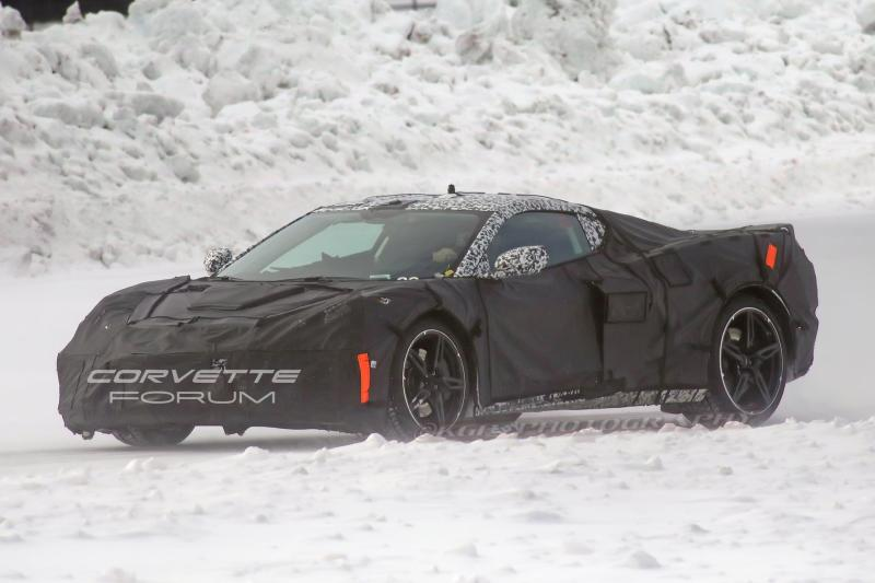 """Cover for New spy-shots reveal more about the mid-engine """"Corvette"""""""