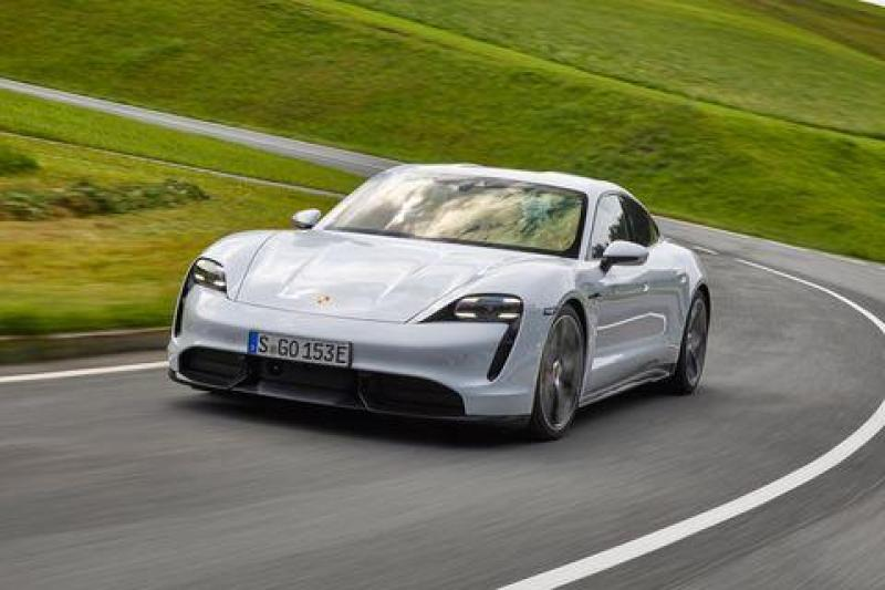 Cover for Porsche Taycan is officially insanely fast