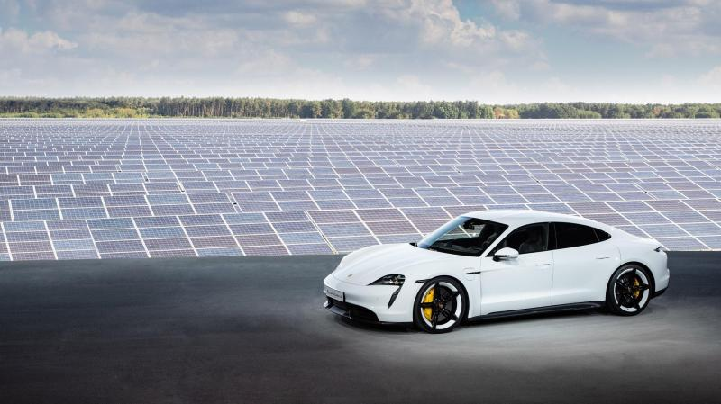 Cover for Porsche Taycan revealed - finally real competition for Tesla