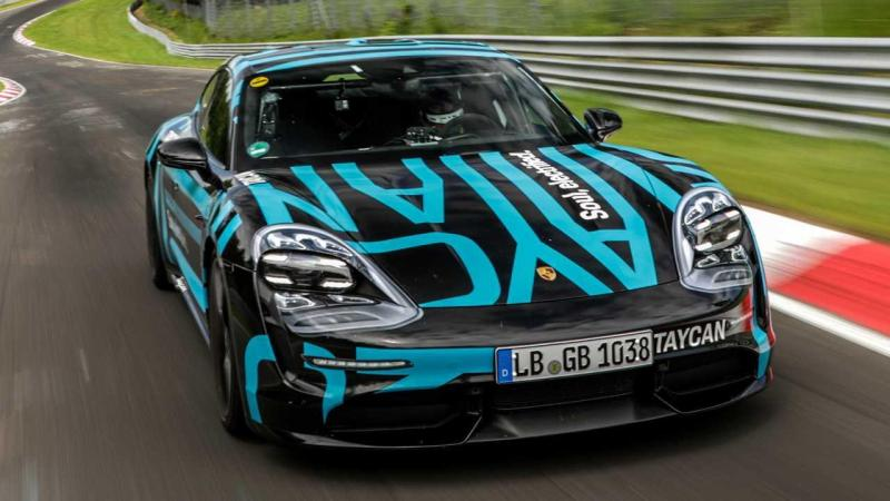 Cover for Porsche Taycan sets a record at Nürburgring