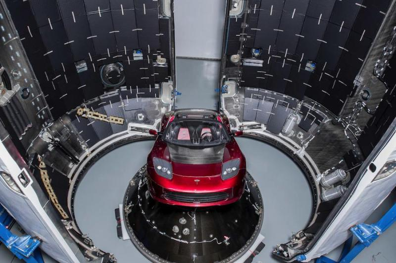 Cover for 25,000 mph Tesla Roadster ready to launch into deep space