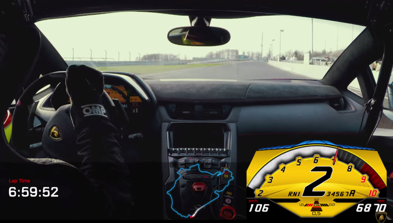 """Cover for The """"Raging Bull"""" attacks Nurburgring - Aventador SV posts 6:59"""